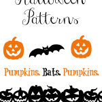 Pumpkins. Bats. Pumpkins.  Halloween Patterns