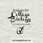 Prepare for College Biology.  The information you need to succeed.