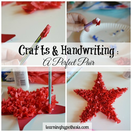 Crafts and Handwriting : A Perfect Pair