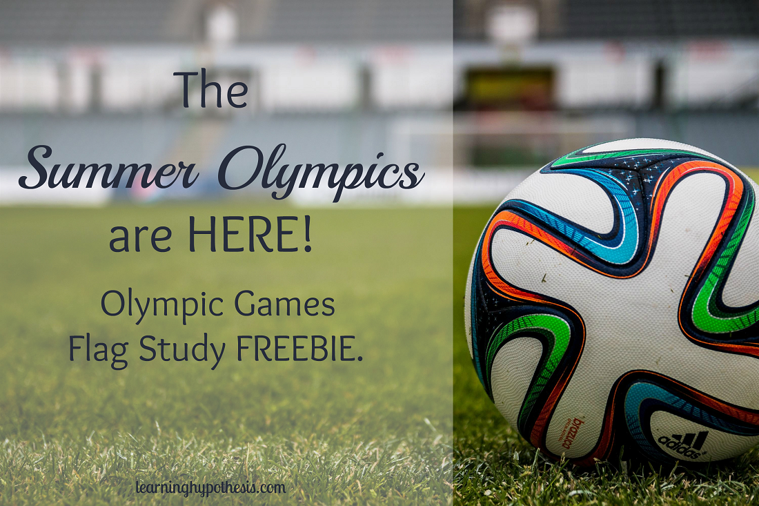The Summer Olympics are HERE! Olympic Games Flag Study FREEBIE