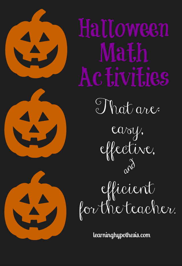 Halloween Themed Math Activities that will Excite your Little Learner.