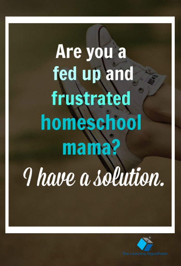 don't struggle in your homeschool
