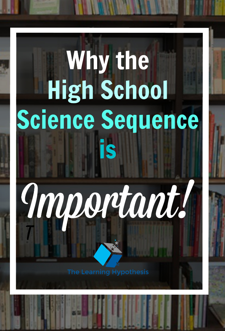 Why the High School Science Sequence is Important.