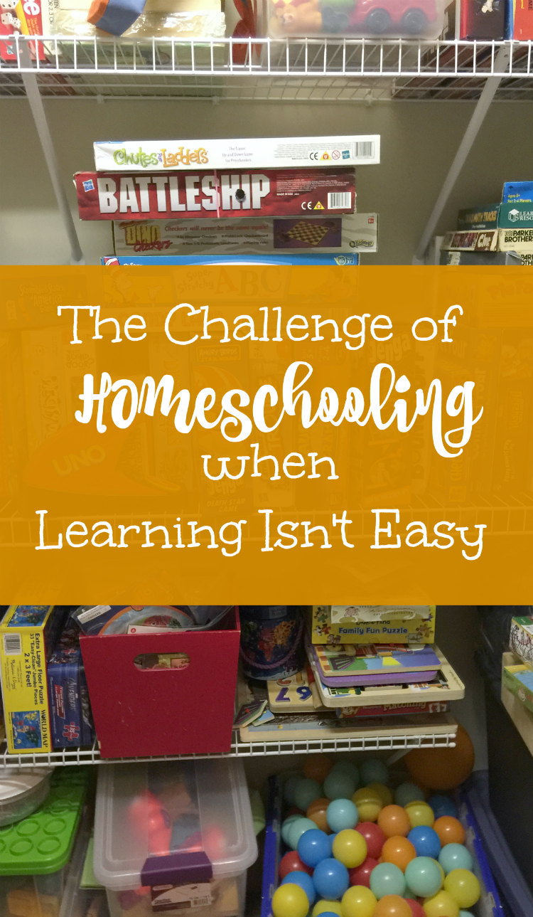 The Challenge of Homeschooling when Learning Isn't Easy