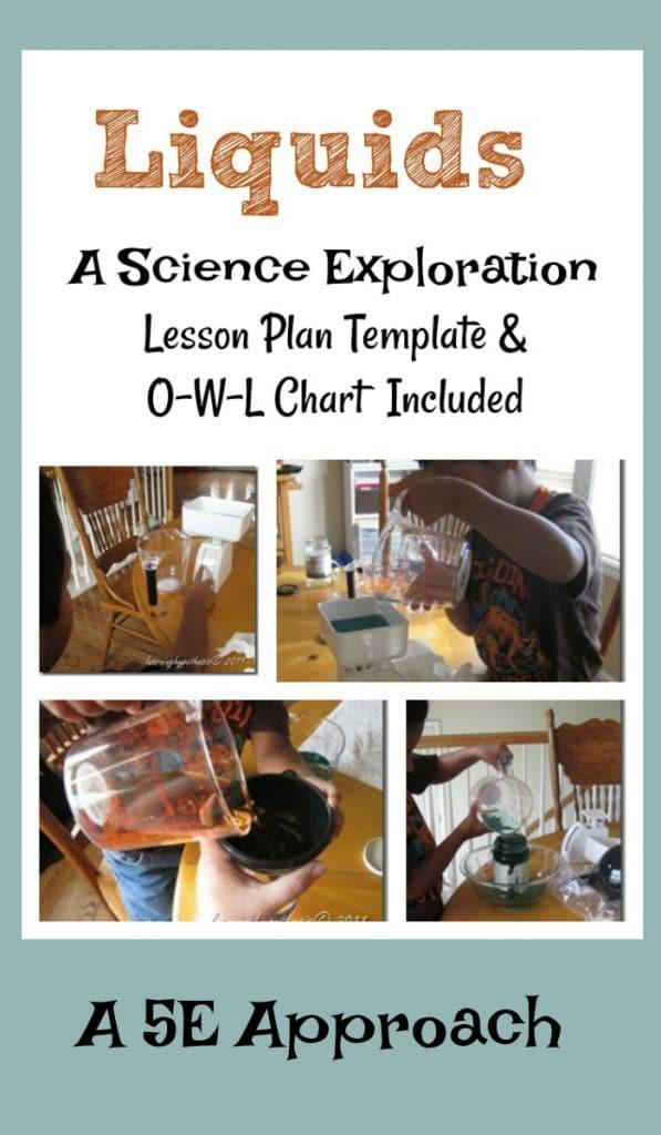 How to use the 5E model to explore liquids.