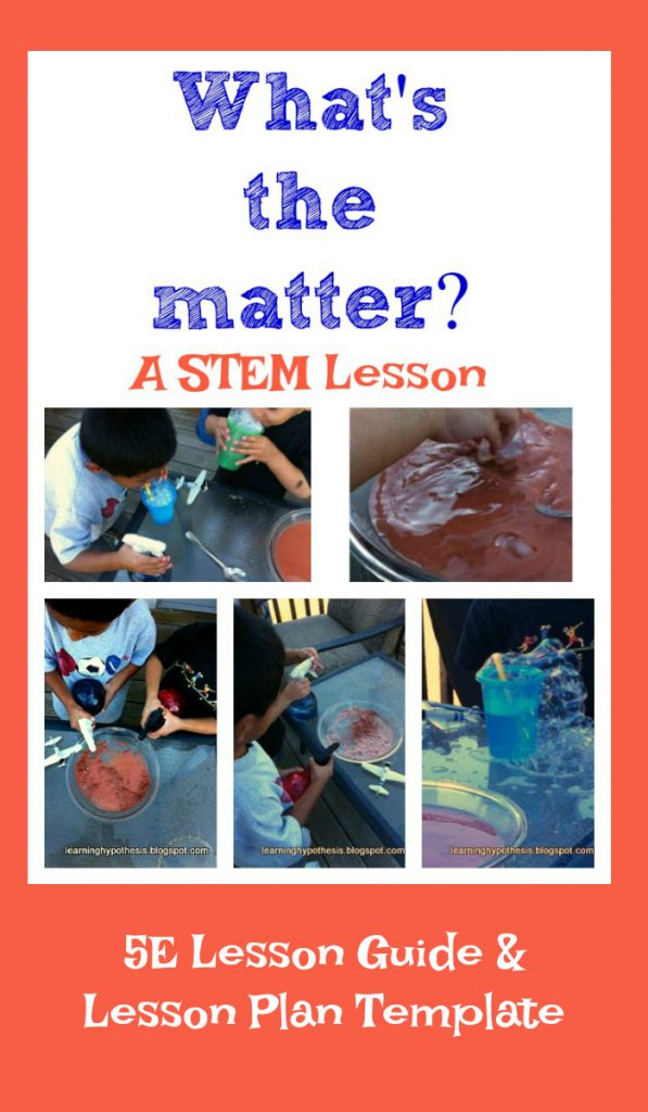 What makes up matter? A 5E lesson.