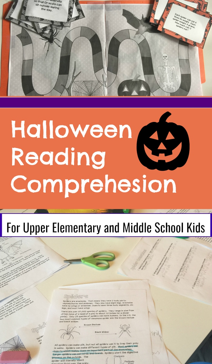 Halloween Reading Comprehension for Upper Elementary and Middle School