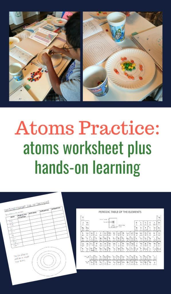 Atoms Lessons.  Worksheet and Hands-on Learning for Middle School and Up