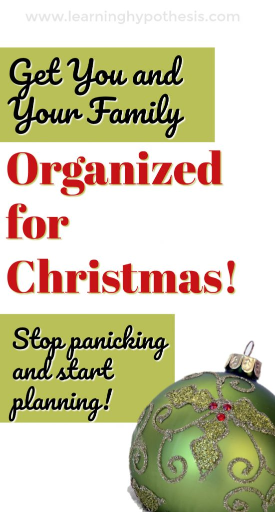 How to Get You and Your Family Organized for Christmas
