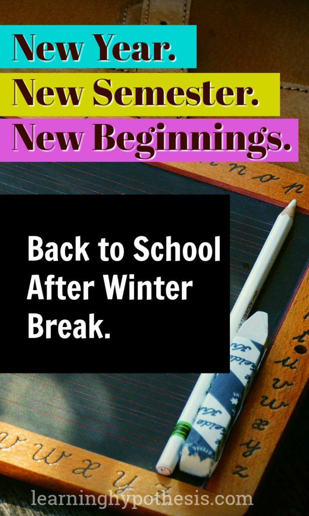 New Year. New Semester. New Beginning.