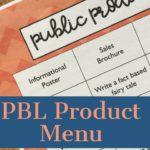 PBL Product Menu