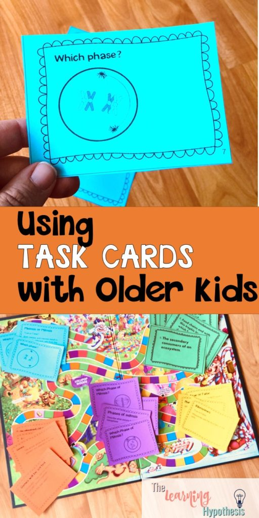 Task Cards Aren't Just for Elementary Classrooms.