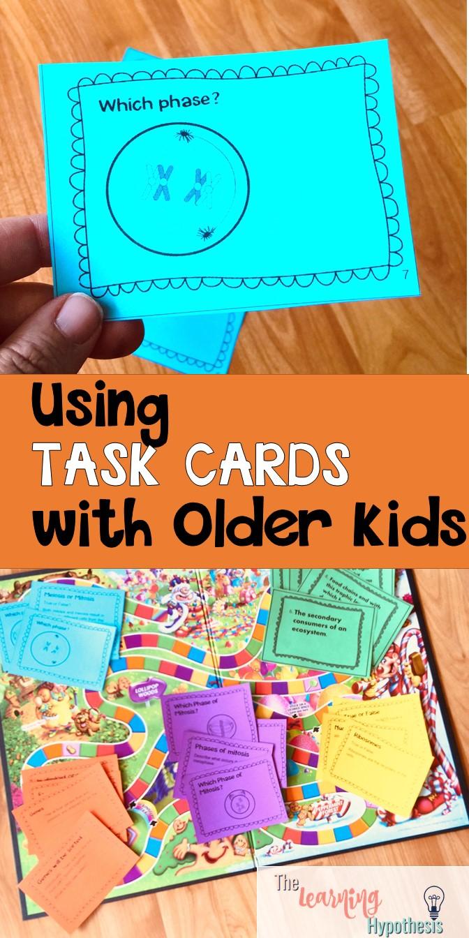 Task Cards for Older Students