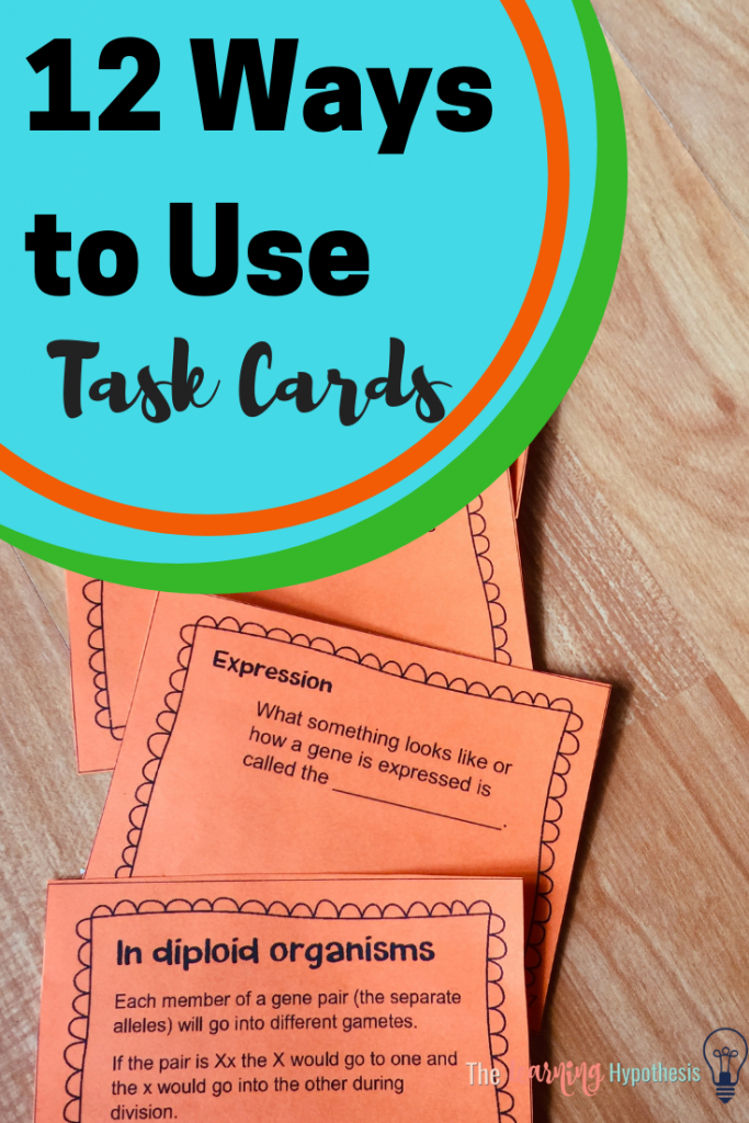 12 ways to use task cards