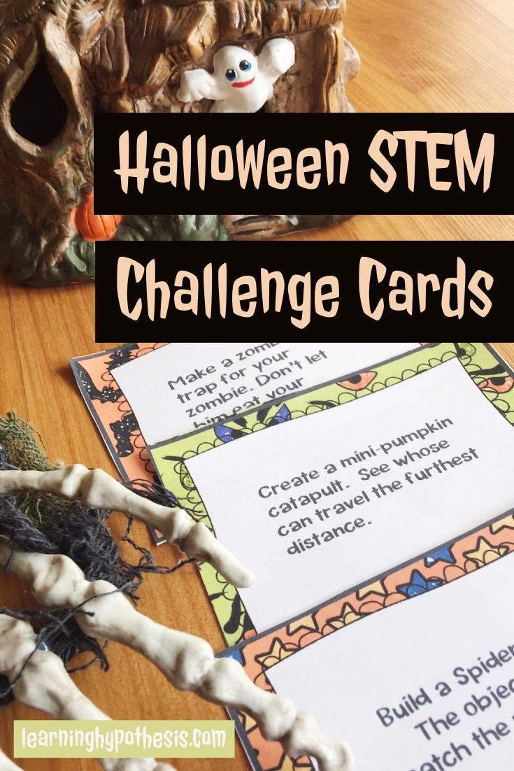 Halloween STEM Challenge Cards