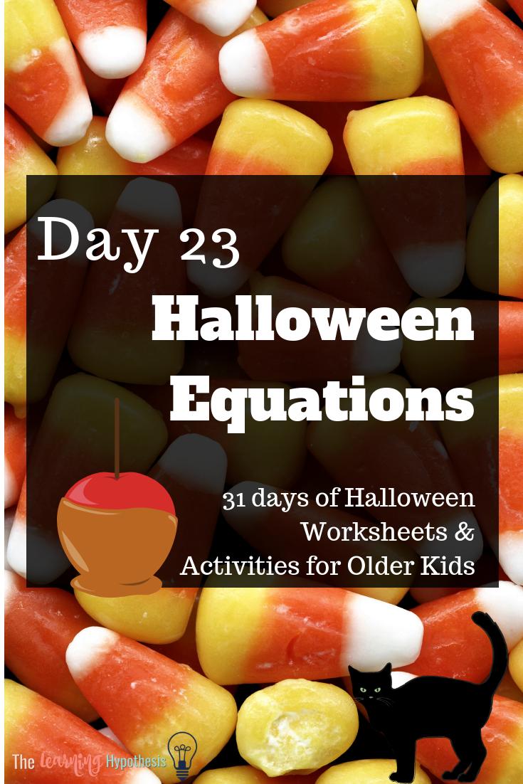 Halloween Equations
