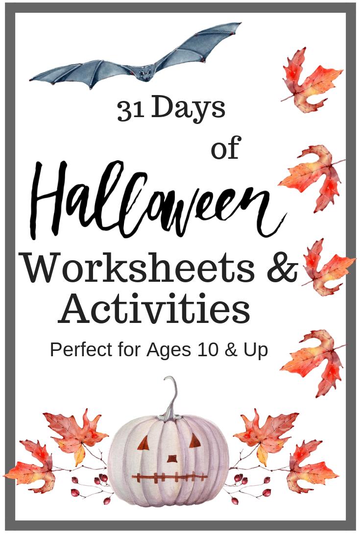 Halloween Worksheets for Older Kids