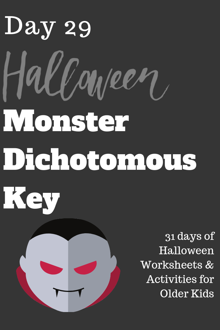 Halloween Monster Dichotomous Key