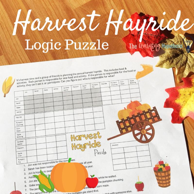 Harvest Hayride Logic Puzzle